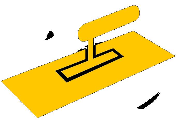 putzkelle freigestellt gelb